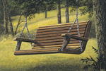All wood porch swing has great country style
