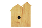 Wood barn shaped country birdhouse
