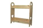 The two shelf plant stand has hearts carved out of each side and is great for a greenhouse or kitchen