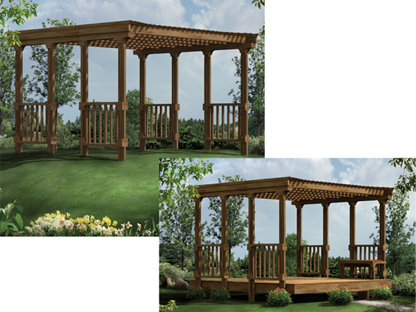 Patio Cover Made Of Wood For Existing Deck Or Build As A Stand Alone Area