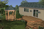 Multi-tiered deck includes an attached gazebo for a charming touch
