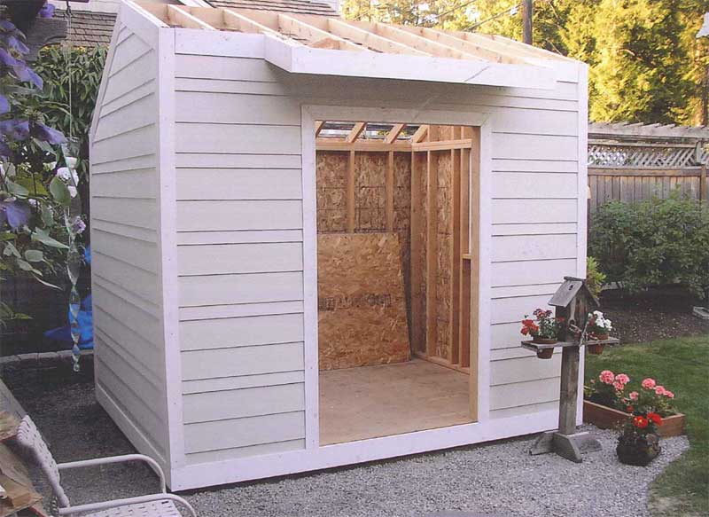 Building Plans Front Photo 04 - Monaca Salt Box Storage Shed 002D-4519 | House Plans and More