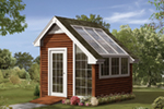Building Plans Front Photo 01 - Boscobel Garden Shed 002D-4523 | House Plans and More
