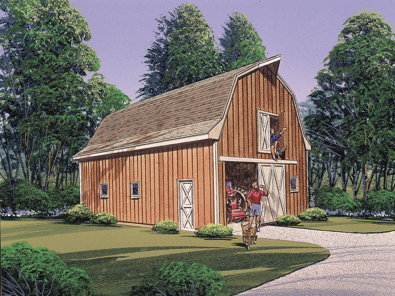 Multi-purpose barn has multiple windows and doors for accessing equipment easily