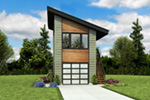 Building Plans Front Photo 02 - Frida Apartment Garage 012D-7506 | House Plans and More