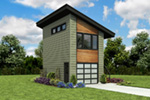 Building Plans Front Photo 03 - Frida Apartment Garage 012D-7506 | House Plans and More