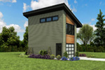 Building Plans Front Photo 04 - Frida Apartment Garage 012D-7506 | House Plans and More