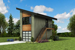 Building Plans Front Photo 06 - Frida Apartment Garage 012D-7506 | House Plans and More
