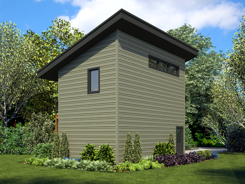 Building Plans Rear Photo 01 - Frida Apartment Garage 012D-7506 | House Plans and More