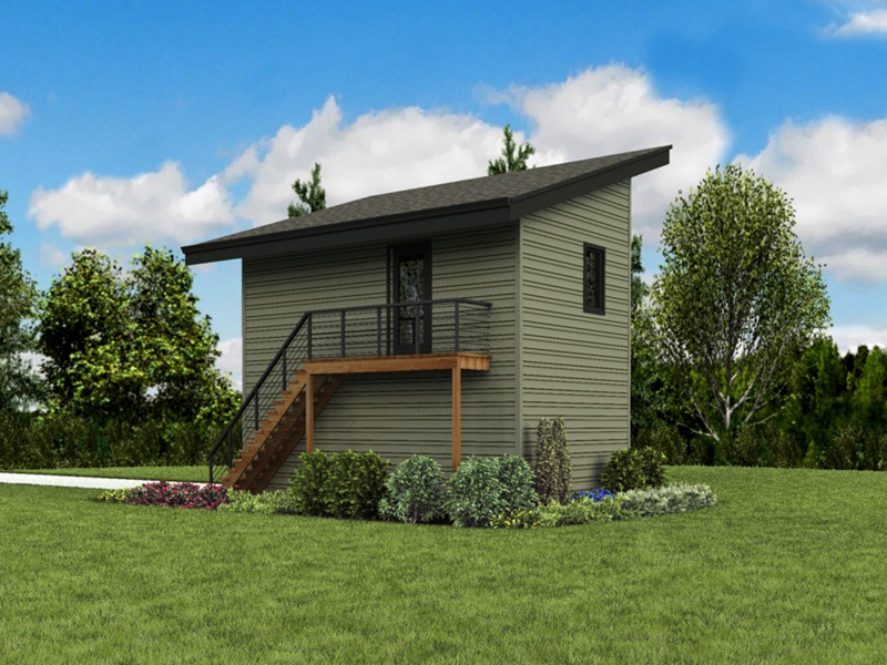 Building Plans Rear Photo 07 - Frida Apartment Garage 012D-7506 | House Plans and More