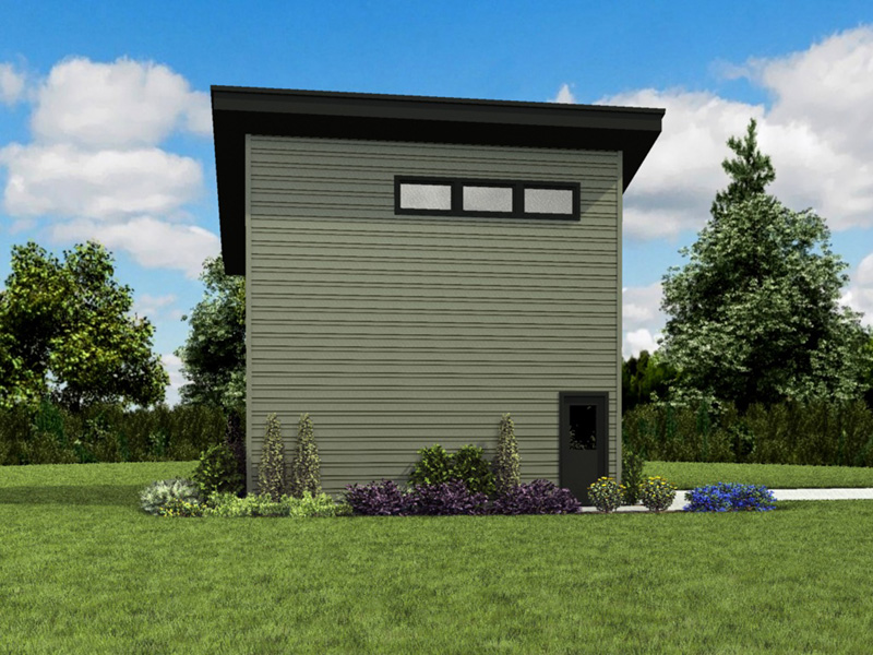 Building Plans Side View Photo 01 - Frida Apartment Garage 012D-7506 | House Plans and More