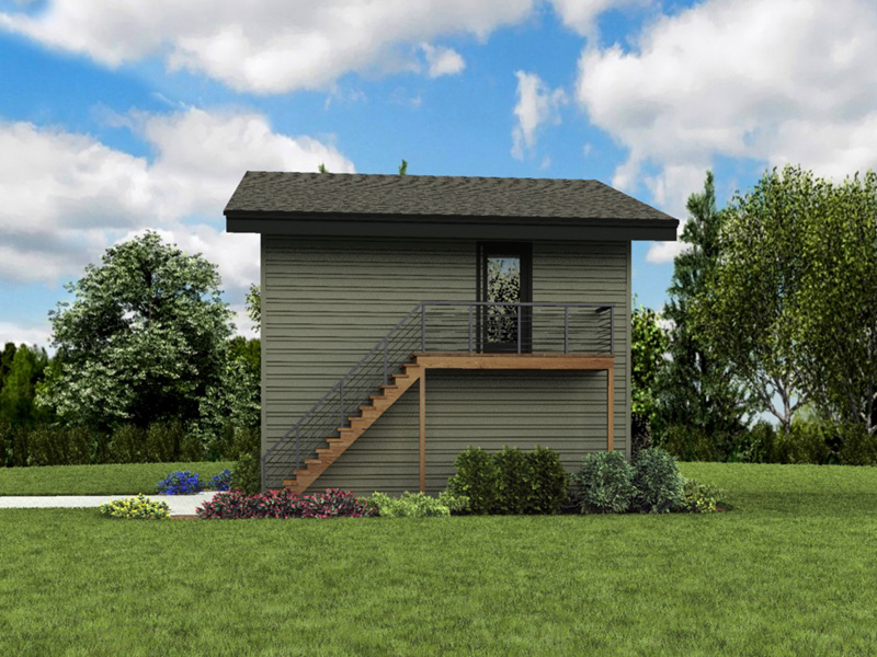 Building Plans Side View Photo 02 - Frida Apartment Garage 012D-7506 | House Plans and More