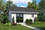 Ranch House Plan Front of Home - Moorpark Modern Studio 012D-7507 | House Plans and More