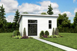 Building Plans Front Photo 07 - Morrow Modern Studio 012D-7508 | House Plans and More