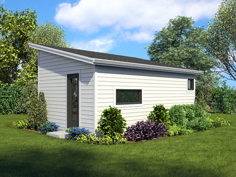 Building Plans Rear Photo 01 - Morrow Modern Studio 012D-7508 | House Plans and More