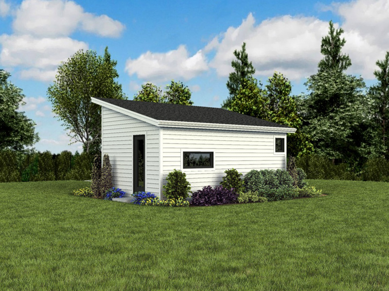 Building Plans Rear Photo 05 - Morrow Modern Studio 012D-7508 | House Plans and More