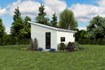 Building Plans Rear Photo 06 - Morrow Modern Studio 012D-7508 | House Plans and More
