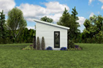 Building Plans Rear Photo 07 - Morrow Modern Studio 012D-7508 | House Plans and More