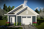 Building Plans Front of Home - Scott 1-Car Garage 051D-0942 | House Plans and More