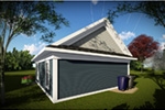 Building Plans Rear Photo 01 - Scott 1-Car Garage 051D-0942 | House Plans and More