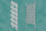 Two trellis projects include a horizontal and diagonal pattern perfect when growing tomatoes or berries