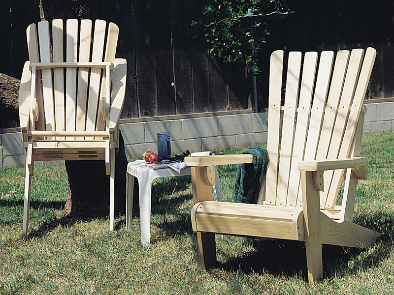 Folding adirondack chairs are made of wood