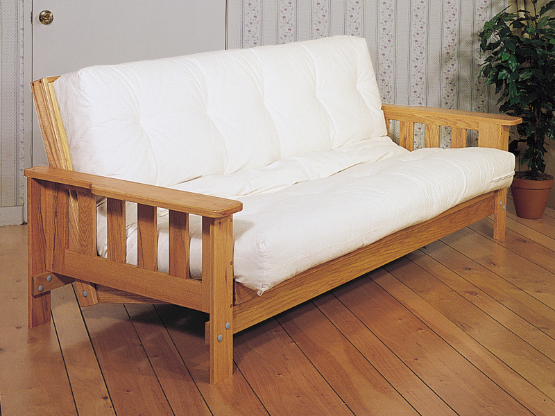 This futon sofabed is the perfect adjustable piece of furniture when extra sleeping space is needed