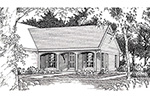 Traditional House Plan Front of Home -  075D-7502 | House Plans and More