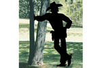 Cowboy shadow yard art adds a great country touch to your backyard