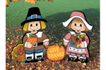 Thanksgiving dress-up darlings are a cute decoration for Thanksgiving