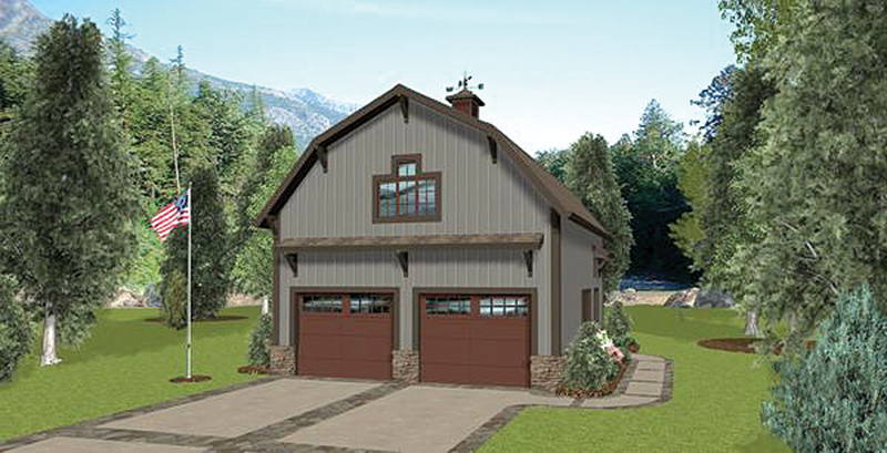 Building Plans Front of Home -  108D-7508 | House Plans and More