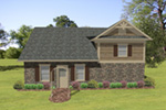 Building Plans Rear Photo 01 - 108D-7509 | House Plans and More