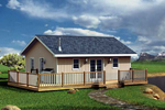 Beach & Coastal House Plan Front of Home - Edelle Cabin Home 109D-7500 | House Plans and More