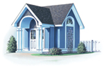 Building Plans Front of Home - Aster Victorian Shed 113D-4501 | House Plans and More
