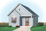 Building Plans Front of Home - Kaylene Garden Shed 113D-4507 | House Plans and More