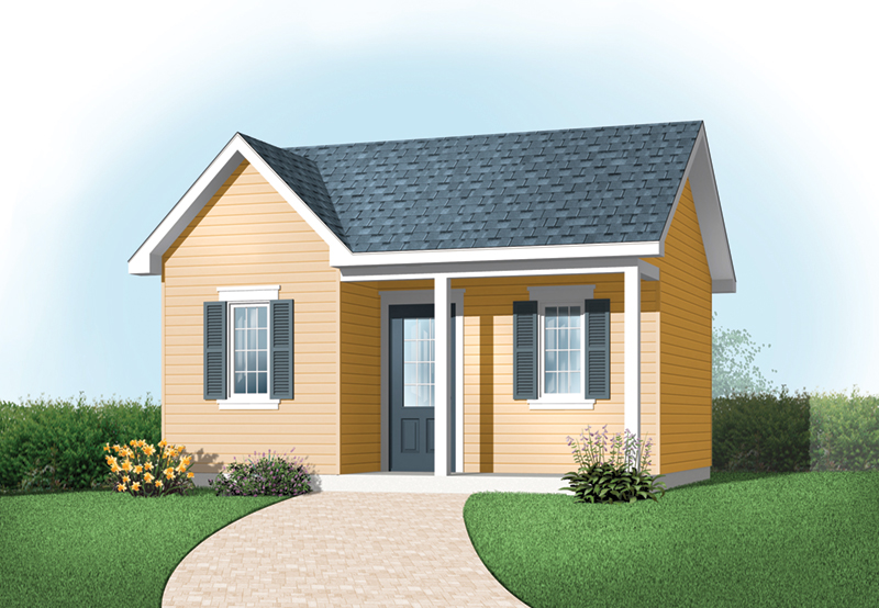Building Plans Front of Home - Kelson Playhouse Shed 113D-4509 | House Plans and More