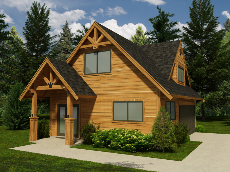 Do It Yourself Home Design: Homestead Rustic Garage Plan 117D-6001