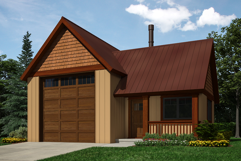 Building Plans Front of Home -  117D-6007 | House Plans and More