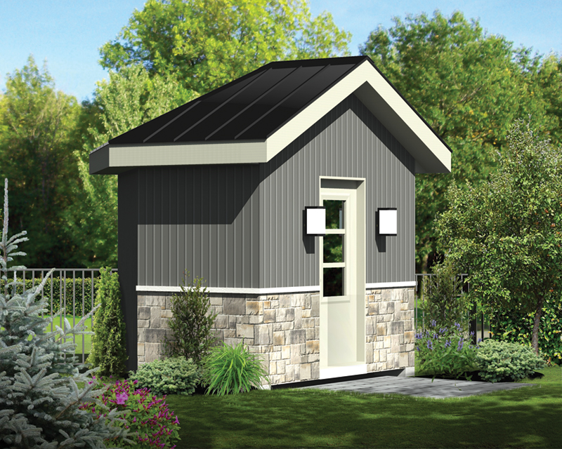 Building Plans Front of Home - Teri Modern Shed 127D-4511 | House Plans and More
