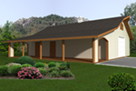 Building Plans Front of Home - Heath Shop & Tack Rooms 133D-7502 | House Plans and More