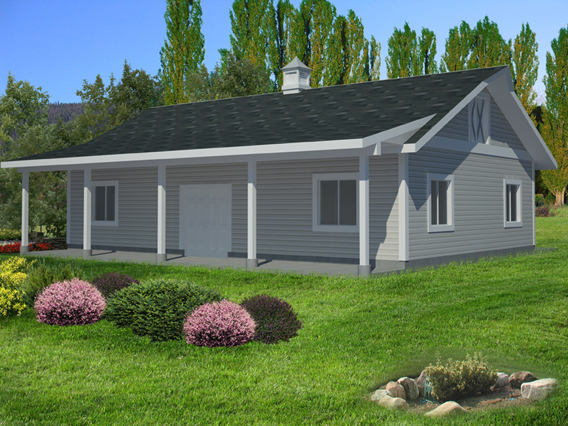 Building Plans Front of Home - Monty Workshop & Fishing Room 133D-7512 | House Plans and More