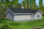 Building Plans Front Photo 01 - Monty Workshop & Fishing Room 133D-7512 | House Plans and More