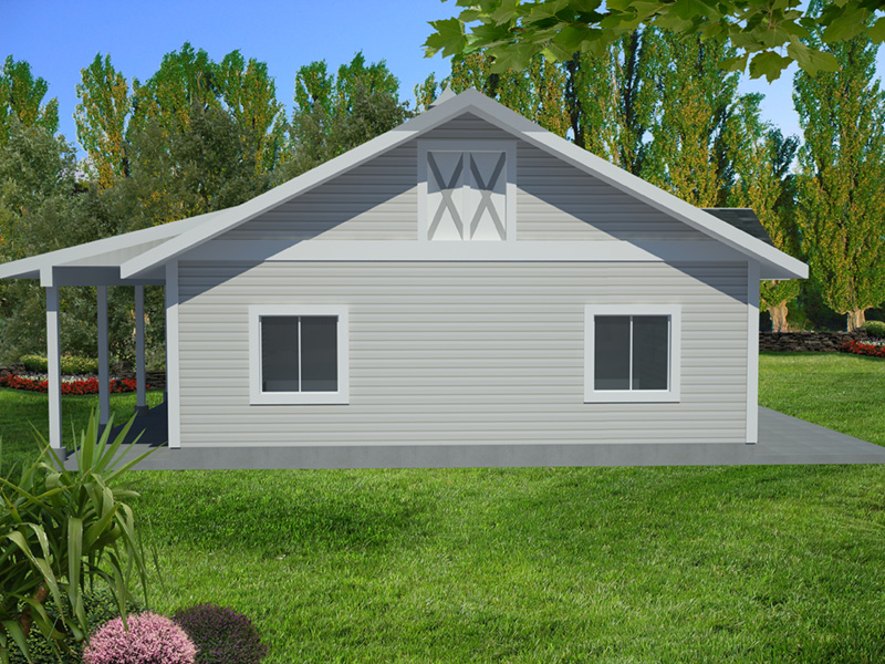 Building Plans Front Photo 03 - Monty Workshop & Fishing Room 133D-7512 | House Plans and More