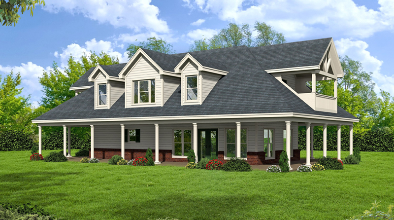 Country House Plan Front of Home -  142D-6052 | House Plans and More